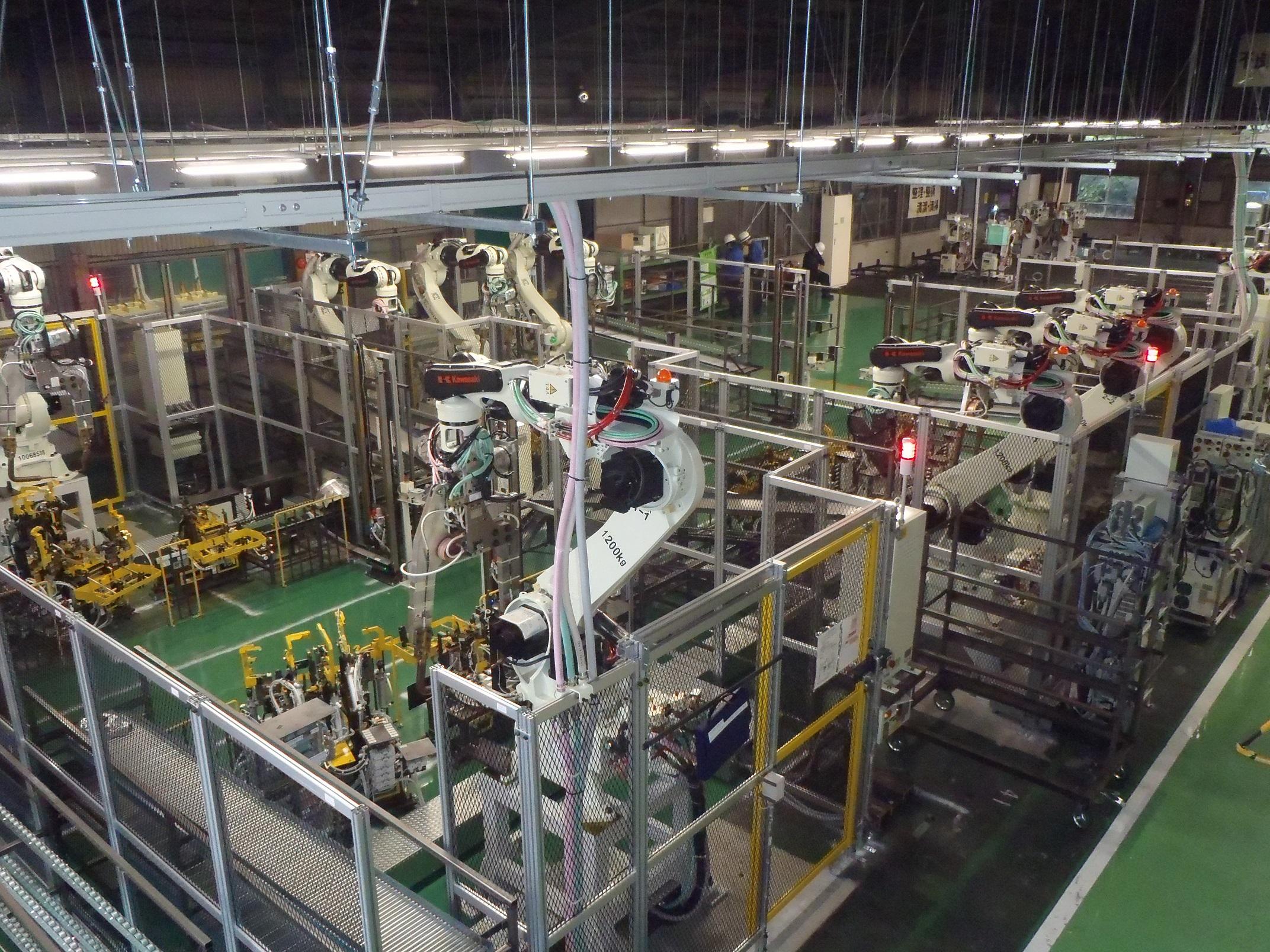 溶接ロボットライン2 (3)
